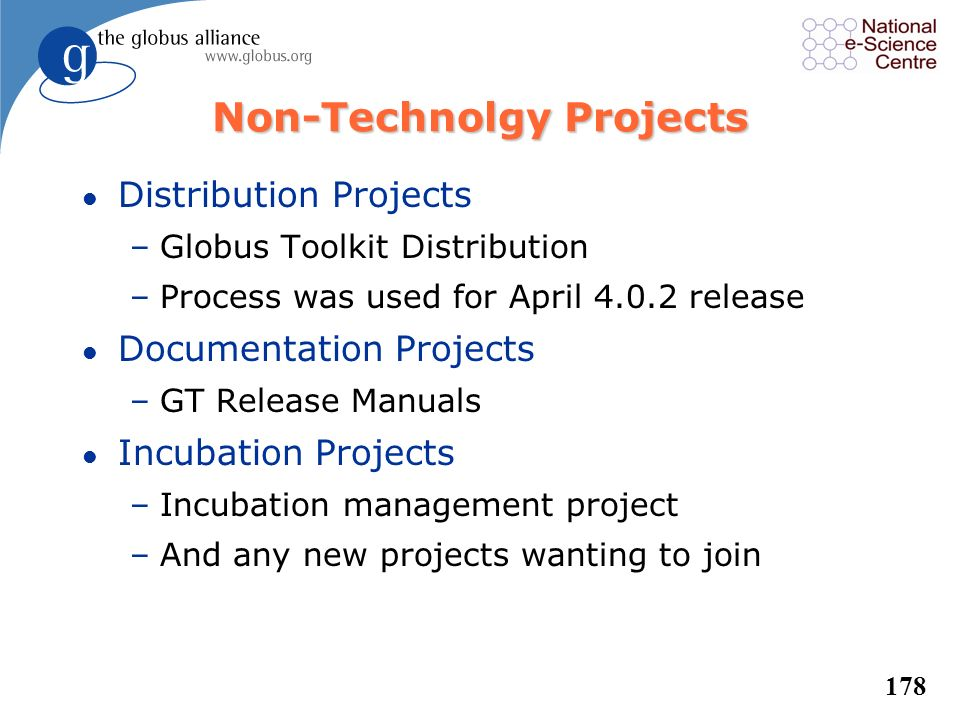 Non-Technolgy Projects