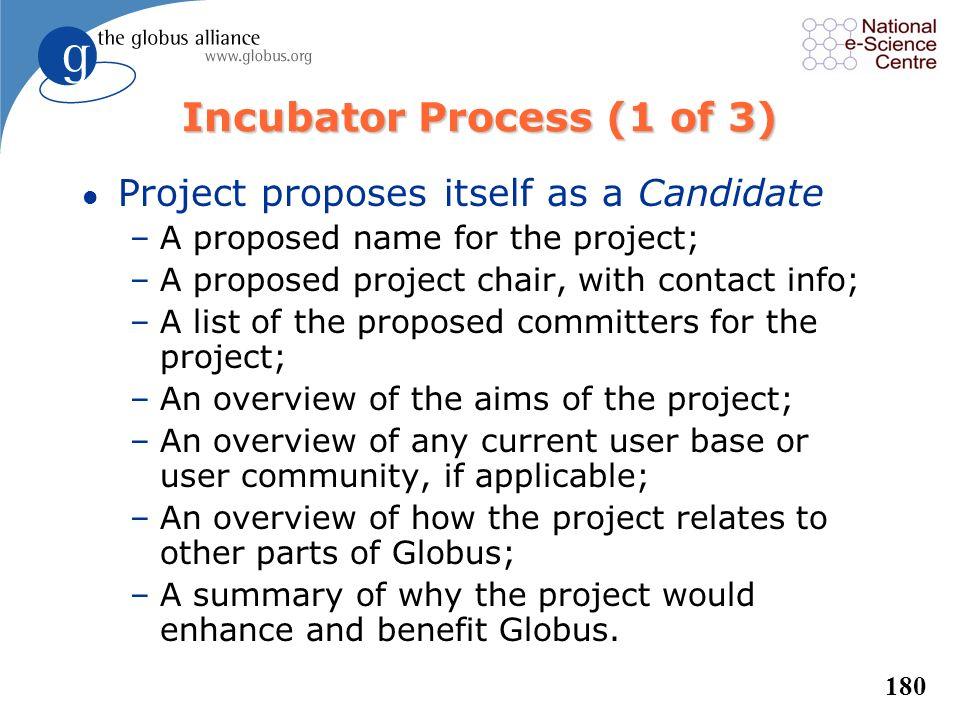 Incubator Process (1 of 3)