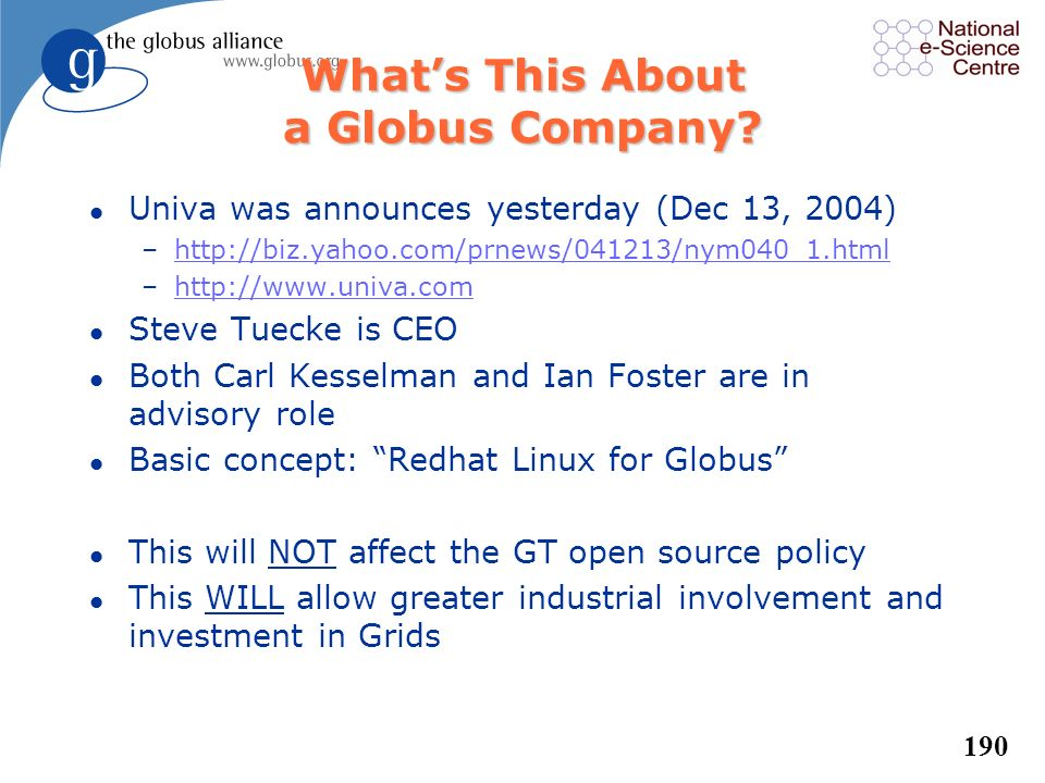 What's This About a Globus Company