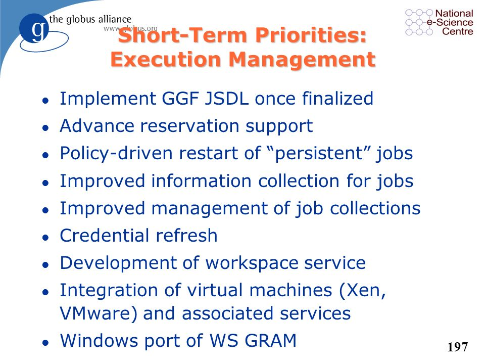 Short-Term Priorities: Execution Management