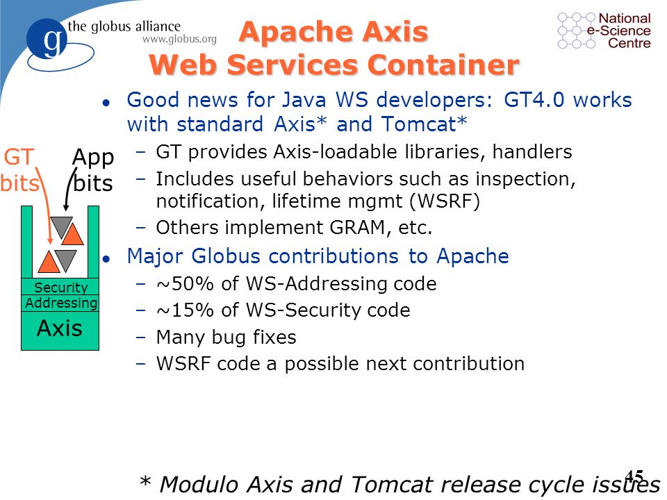 Apache Axis Web Services Container