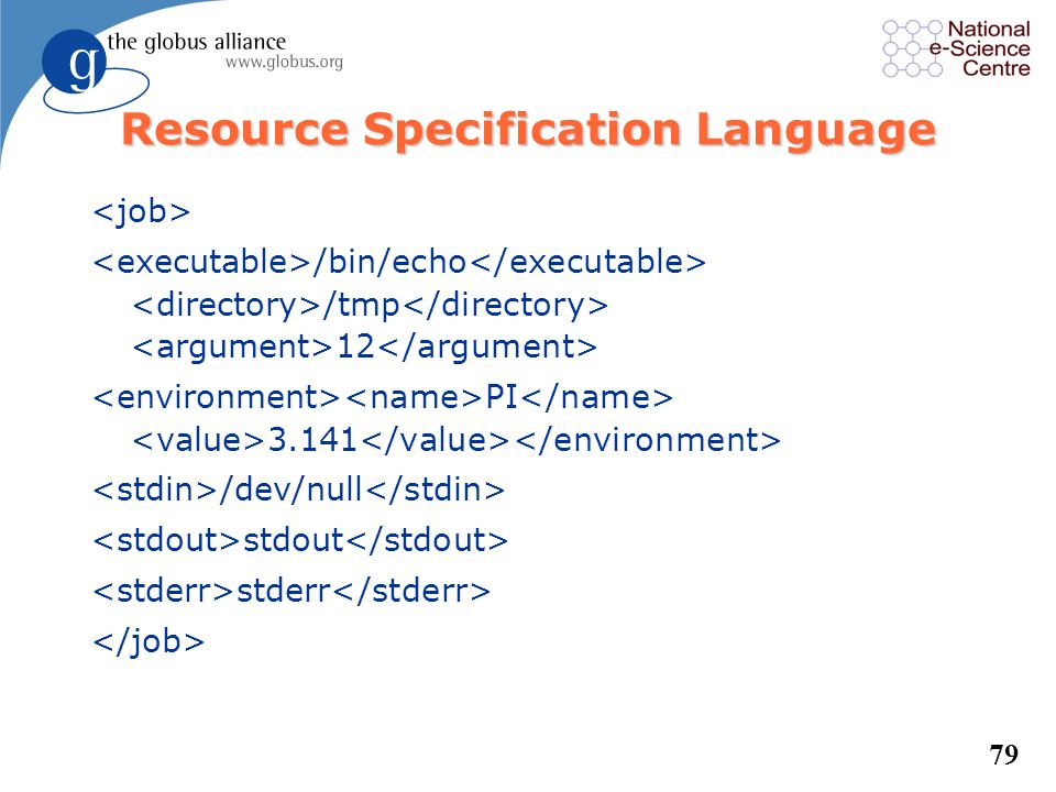 Resource Specification Language