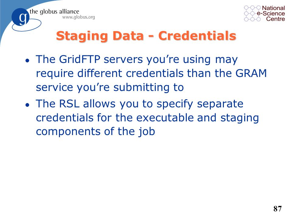 Staging Data - Credentials