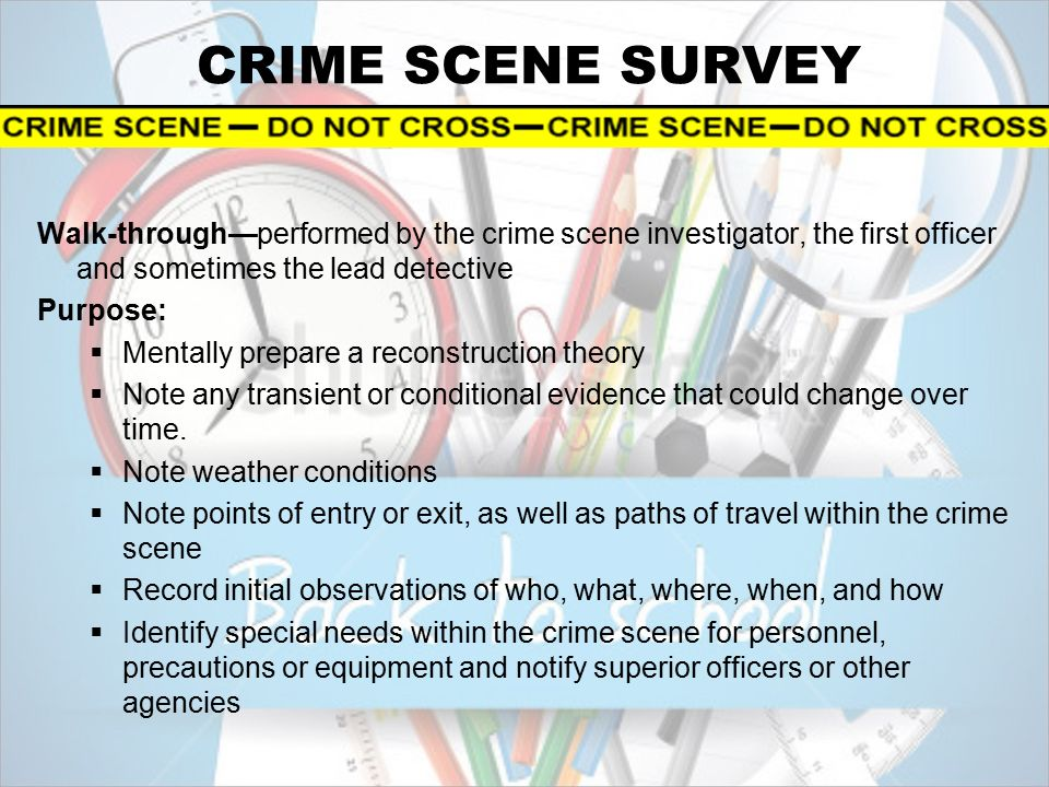 crime scene investigator the first 22 documentation