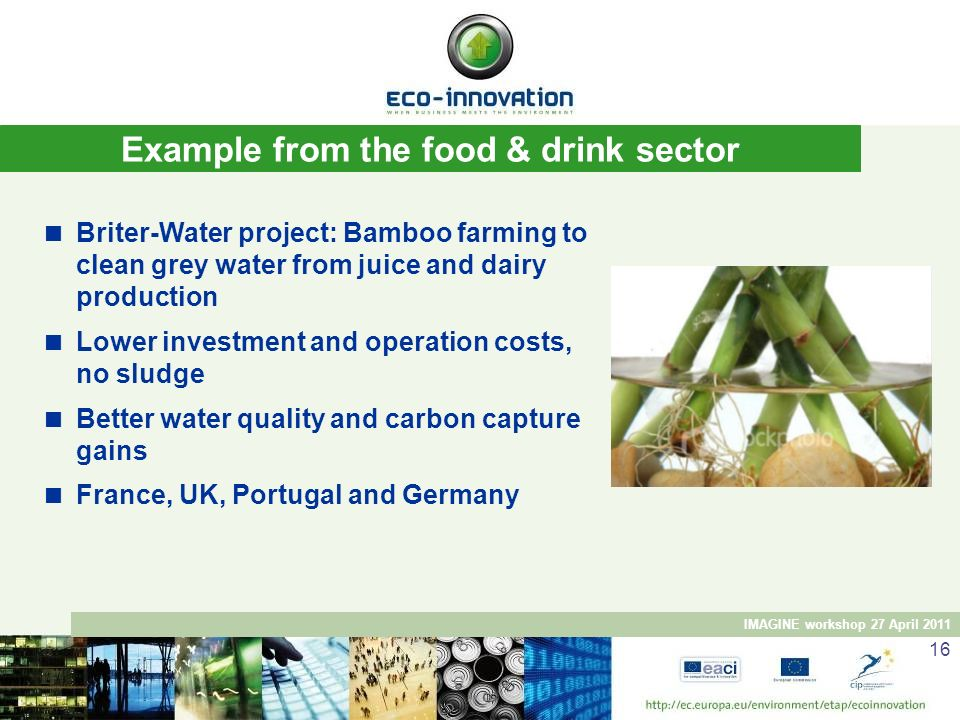 Example from the food & drink sector