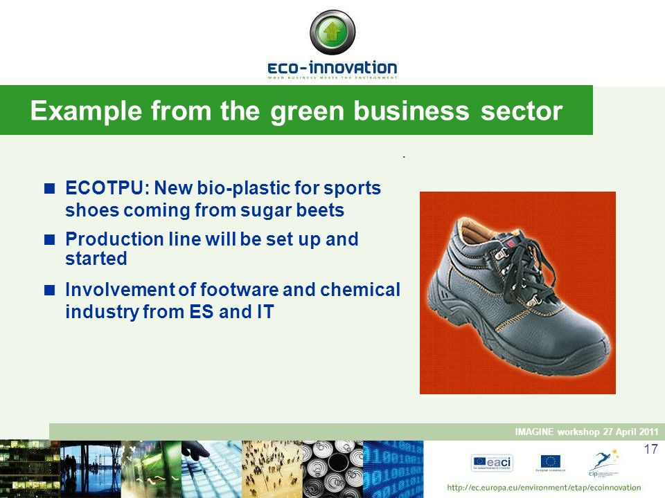 Example from the green business sector