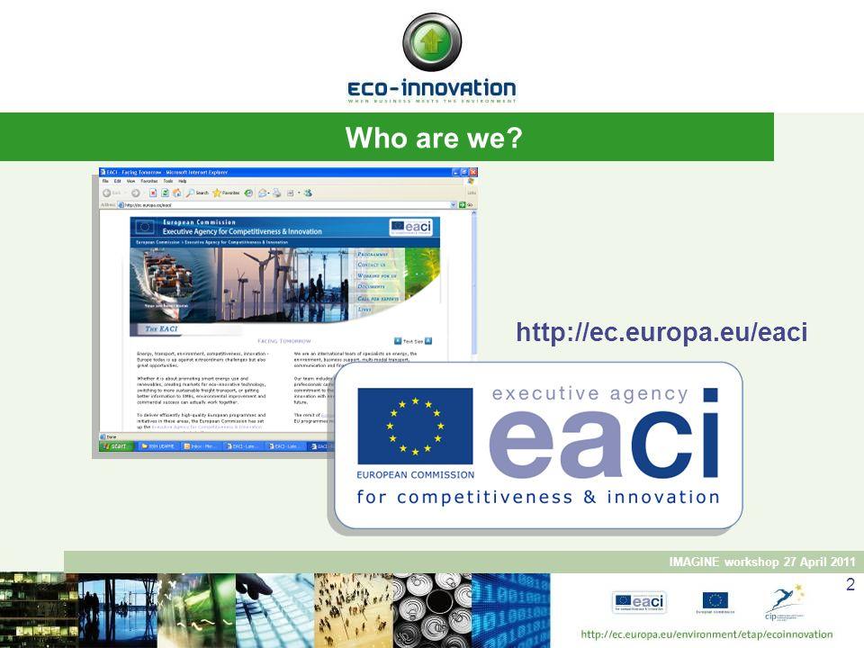 Who are we http://ec.europa.eu/eaci