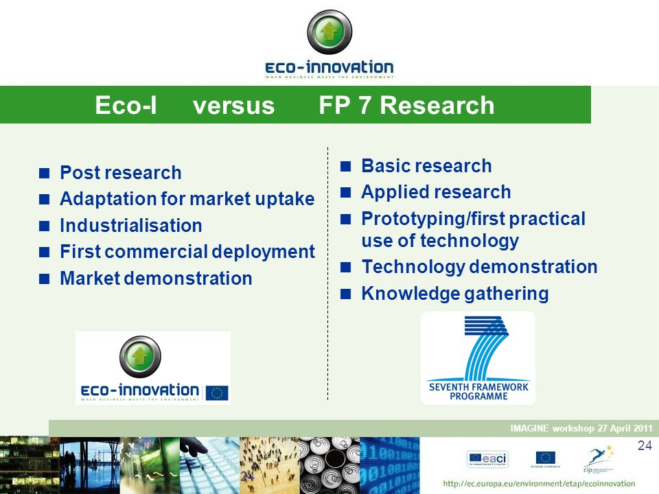 Eco-I versus FP 7 Research