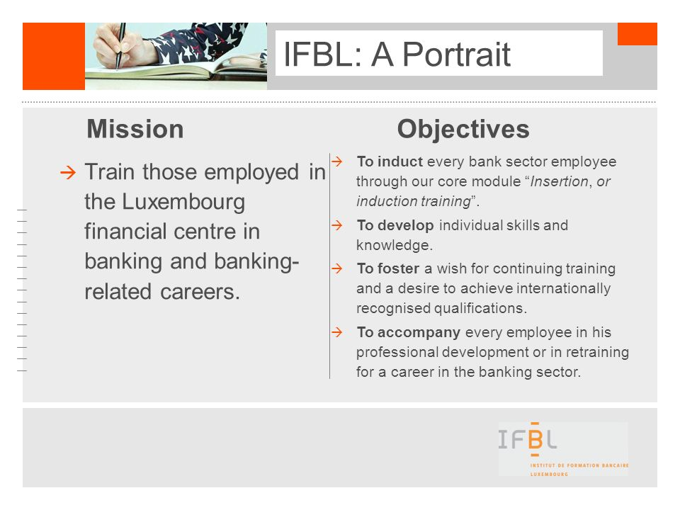 IFBL: A Portrait Mission Objectives