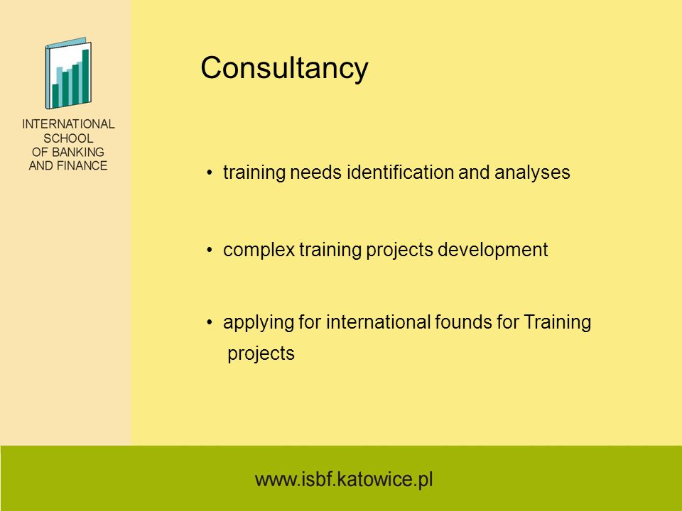 Consultancy training needs identification and analyses