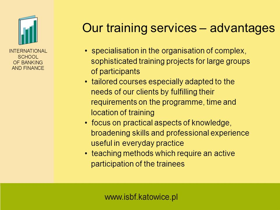 Our training services – advantages