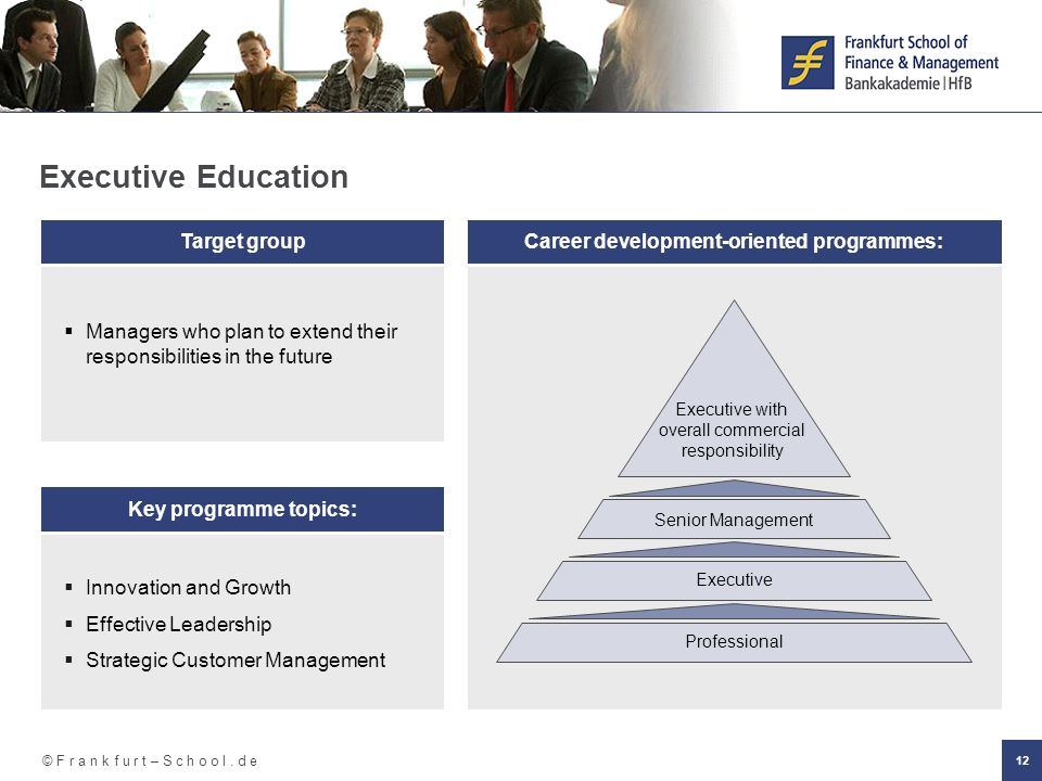 Career development-oriented programmes:
