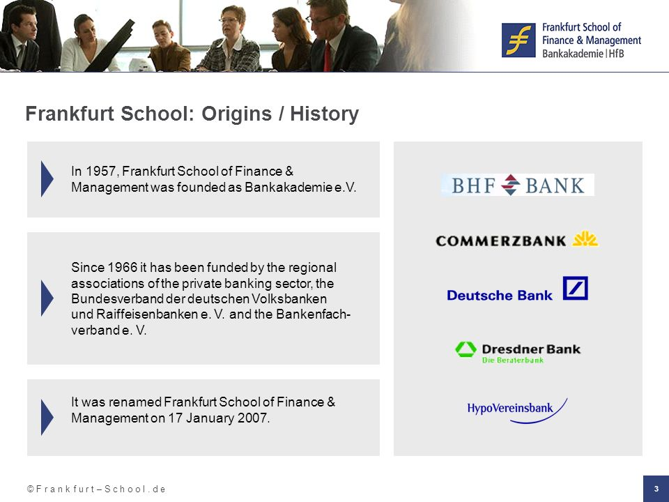 Frankfurt School: Origins / History