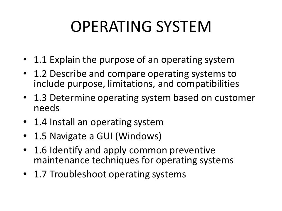 purpose of an operating system Computer science and engineering - operating system - miroslaw  malek  primary purpose is to provide an interface between applications  programs.
