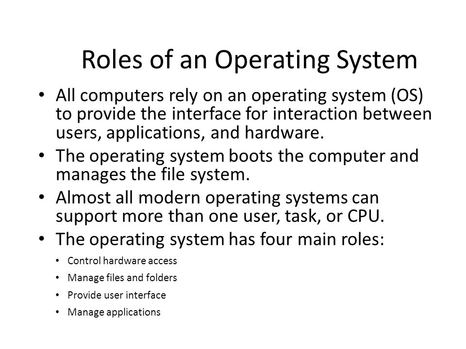 operating system user interface guidelines
