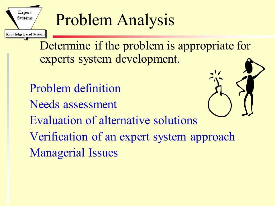 problem analysis You must understand the issue, problem or symptom you are experiencing before you can realistically try to figure out what to do about it.