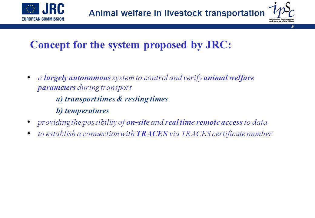 Concept for the system proposed by JRC: