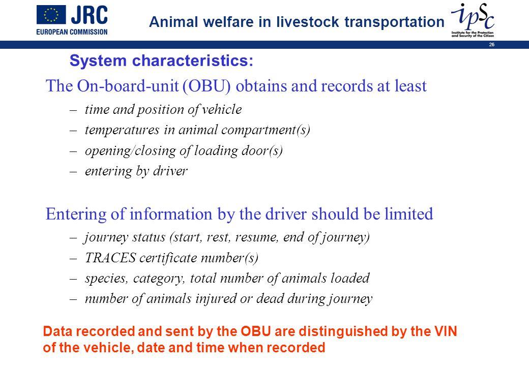 System characteristics: