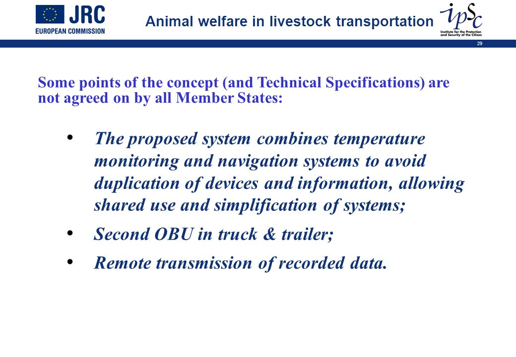 Second OBU in truck & trailer; Remote transmission of recorded data.