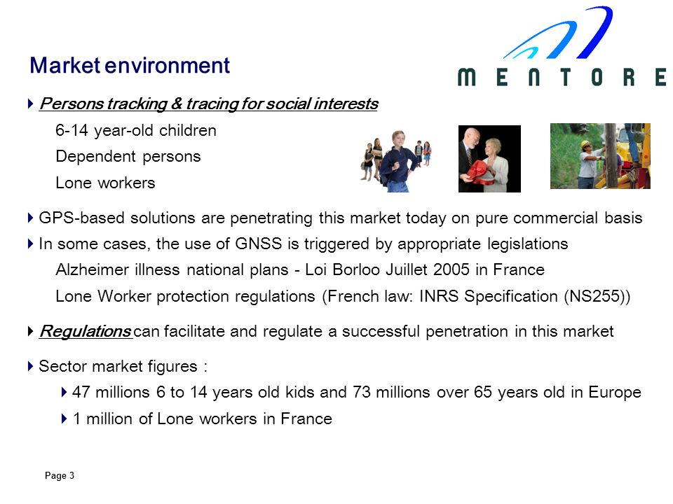 Market environment Persons tracking & tracing for social interests