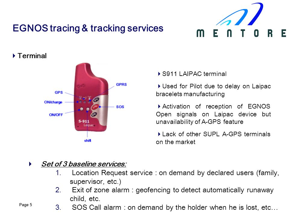 EGNOS tracing & tracking services