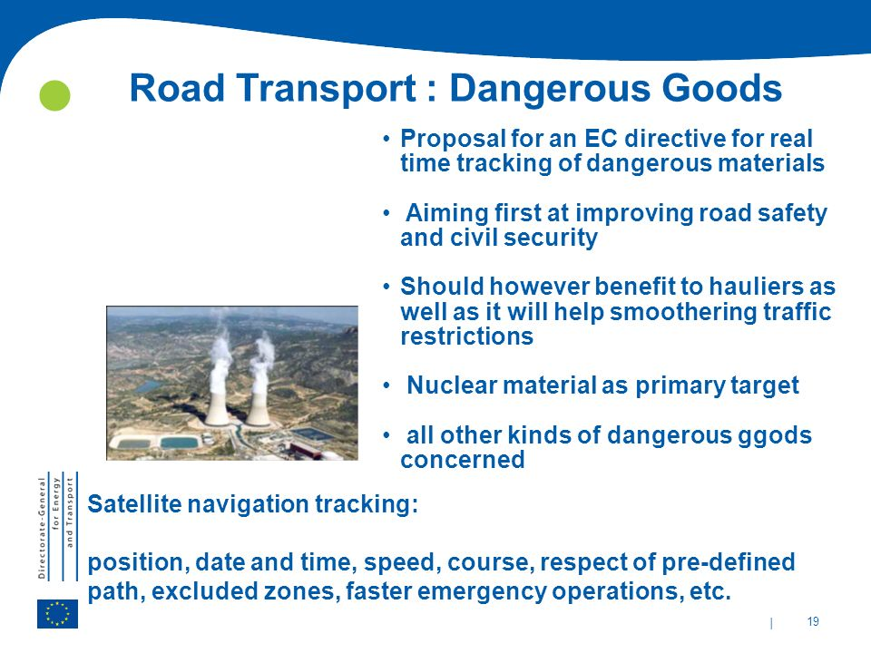 Road Transport : Dangerous Goods
