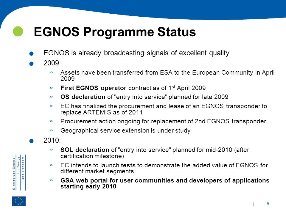 EGNOS Programme Status
