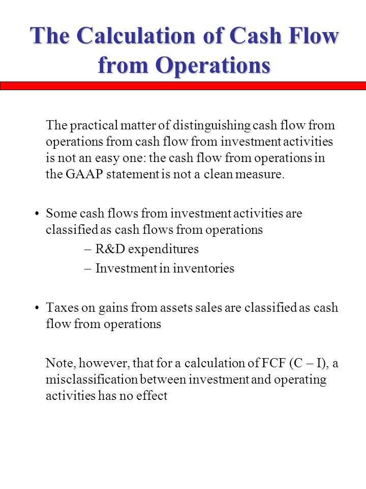 how to get cash flow from operations