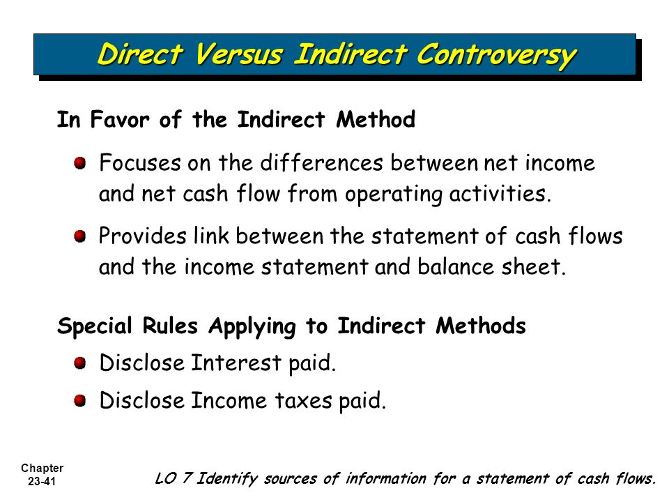 cash flow statement direct and indirect method pdf