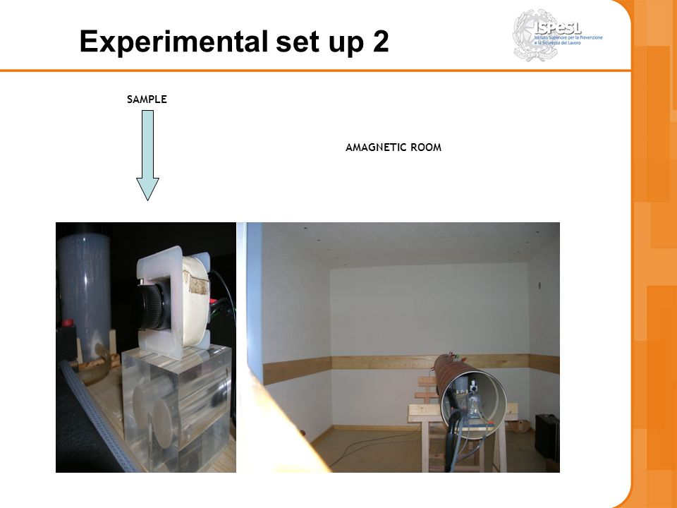 Experimental set up 2 SAMPLE AMAGNETIC ROOM 14