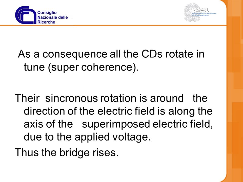 As a consequence all the CDs rotate in tune (super coherence).