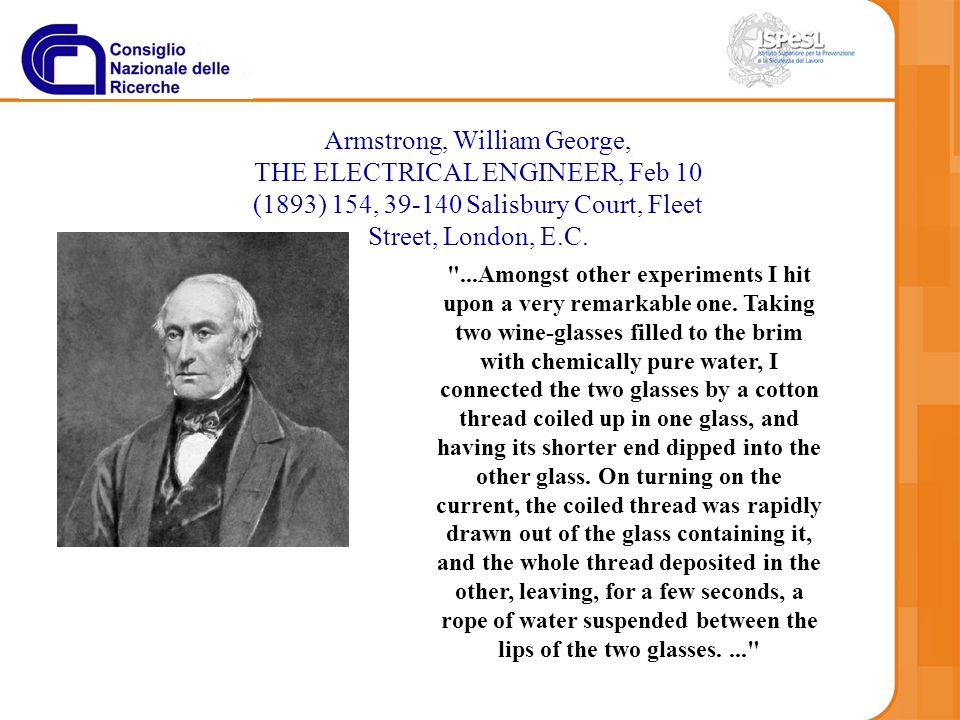 Armstrong, William George, THE ELECTRICAL ENGINEER, Feb 10