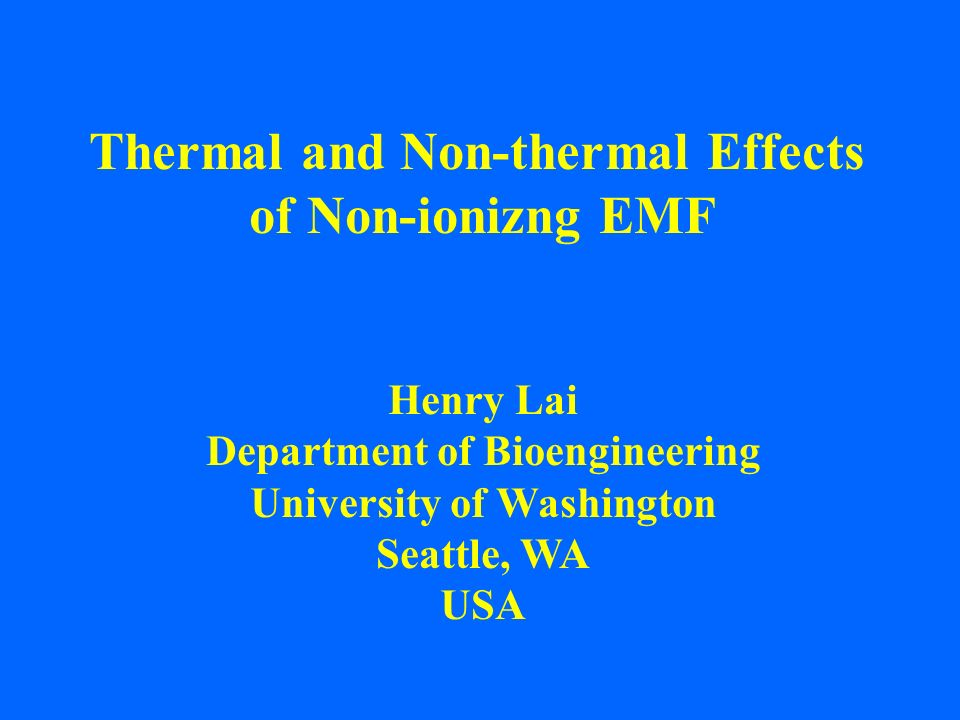 Thermal and Non-thermal Effects of Non-ionizng EMF