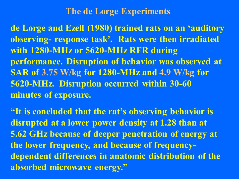 The de Lorge Experiments