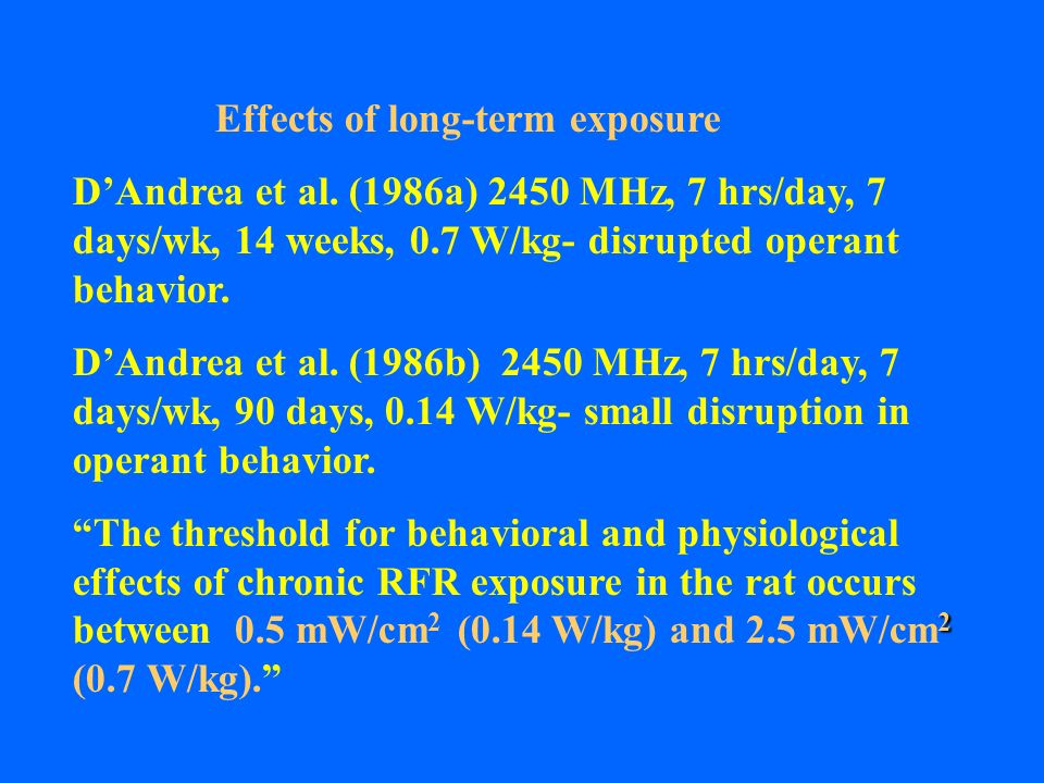 Effects of long-term exposure