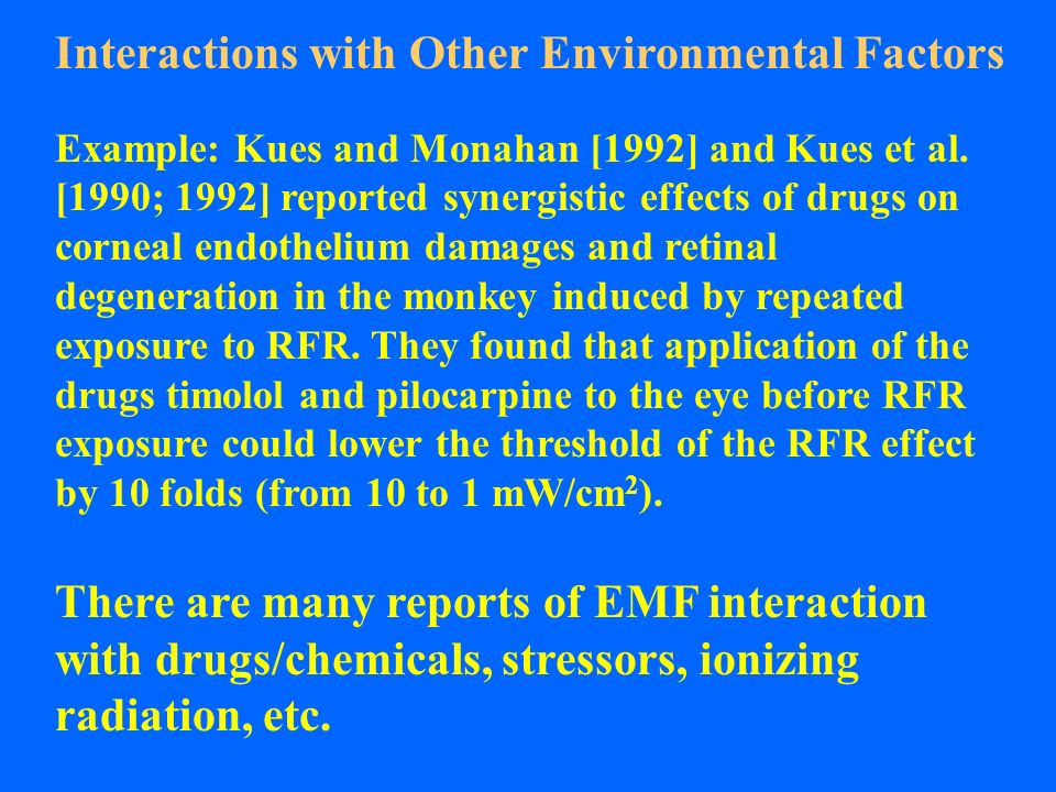 Interactions with Other Environmental Factors