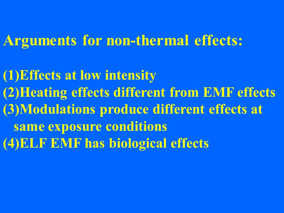 Arguments for non-thermal effects: