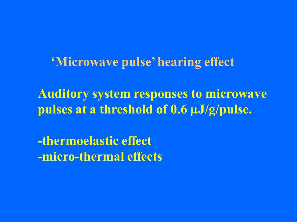 'Microwave pulse' hearing effect