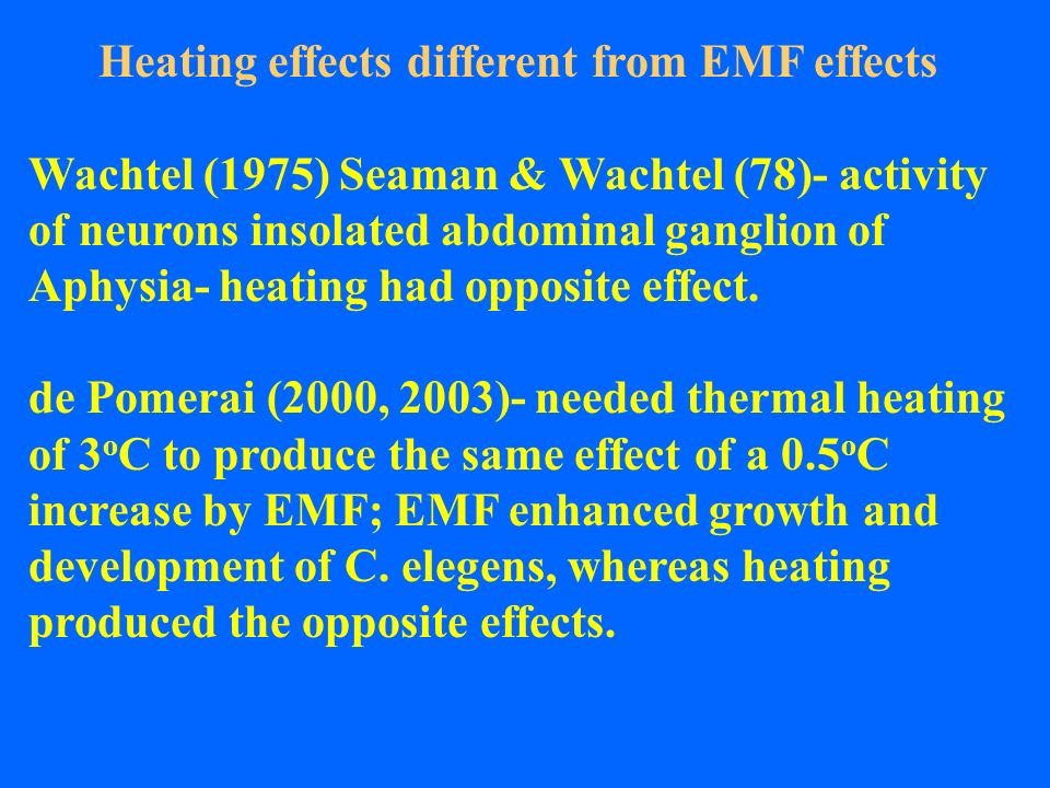 Heating effects different from EMF effects