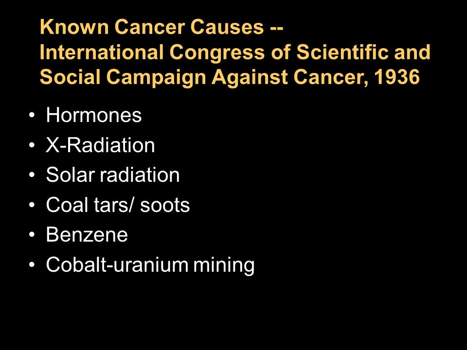 Chapter 2 Known Cancer Causes --