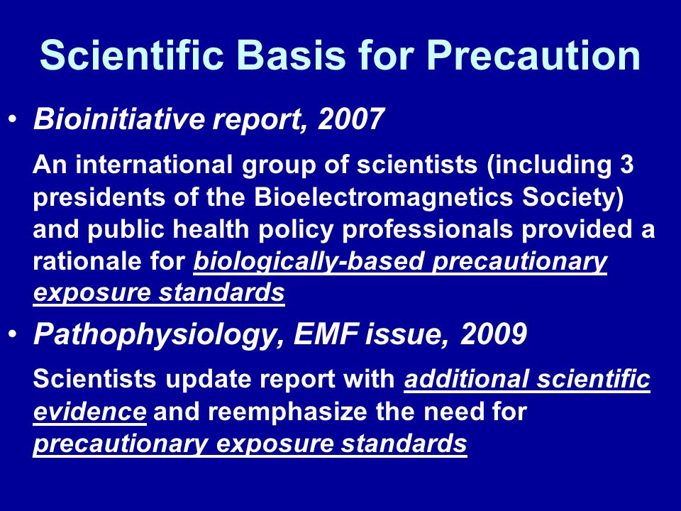 Scientific Basis for Precaution