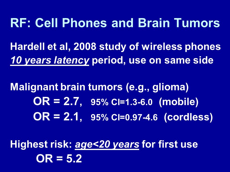 RF: Cell Phones and Brain Tumors