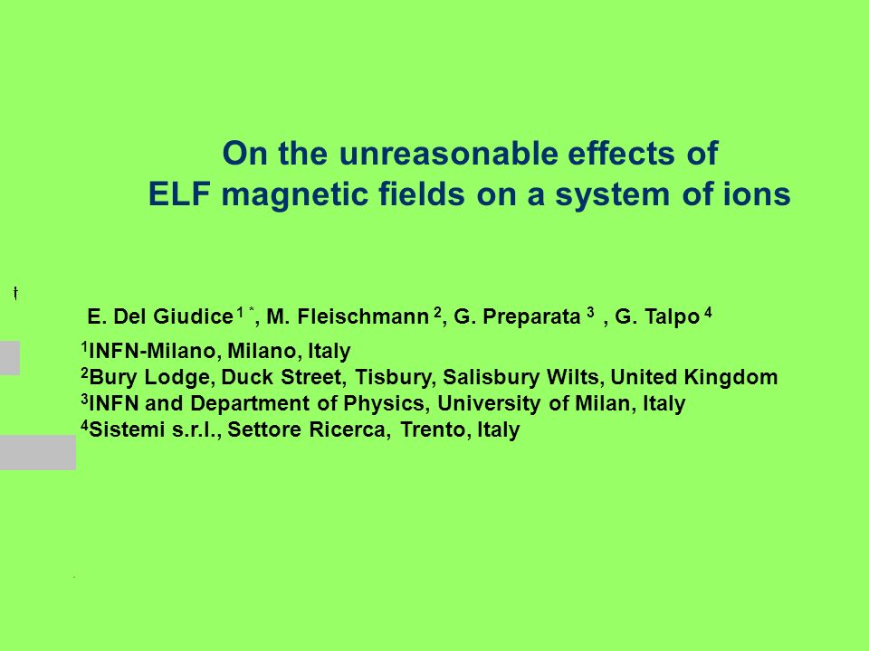 On the unreasonable effects of ELF magnetic fields on a system of ions