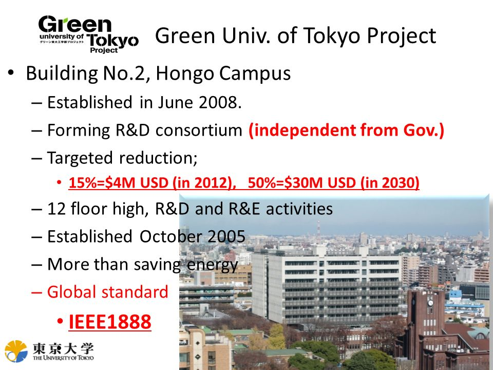 Green Univ. of Tokyo Project
