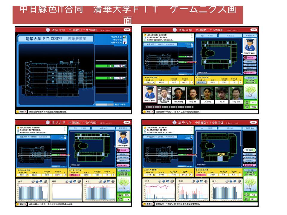 中日緑色IT合同 清華大学FIT ゲームニクス画面