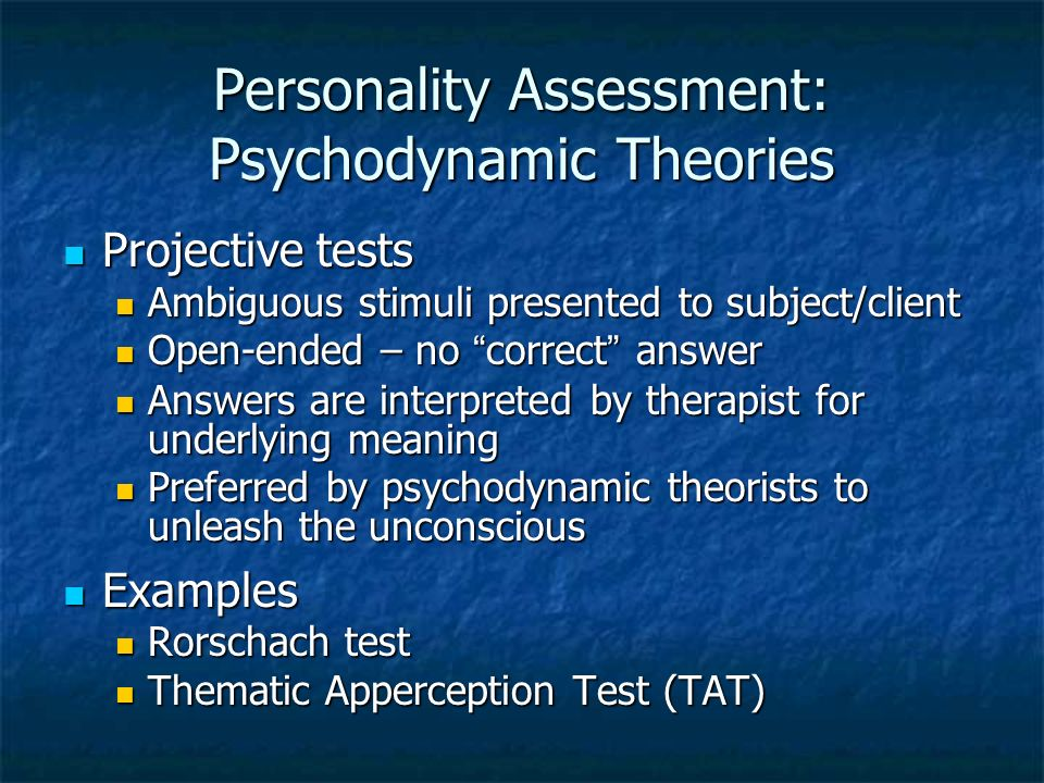 psychodynamic theories of personality pdf