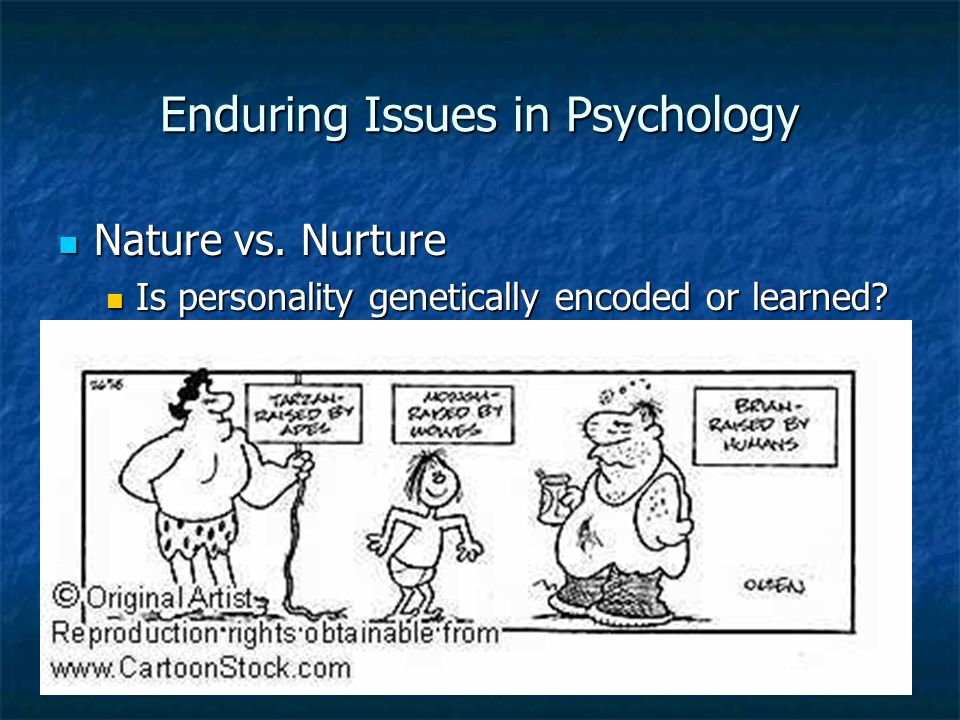 enduring issues psychology Study 5 enduring issues of psychology flashcards from shannon b on studyblue.