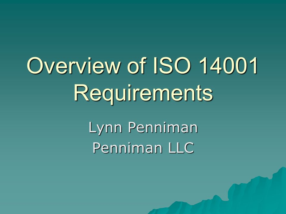 Overview of ISO 14001 Requirements
