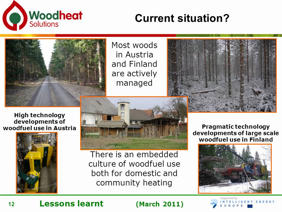 High technology developments of woodfuel use in Austria