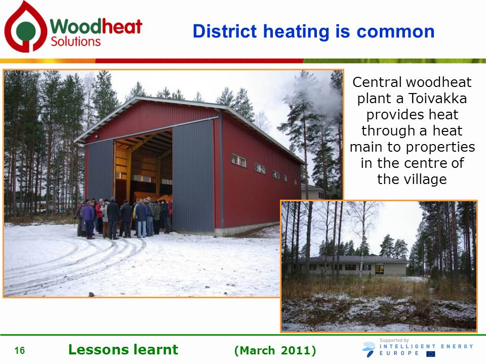 District heating is common